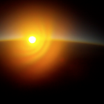 Sunset from 106,000 feet